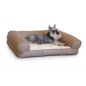 Lazy Sofa Sleeper Pet Bed (Color: Tan, Size: small)