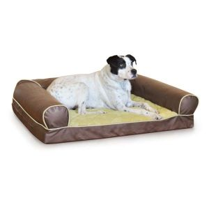 Thermo-Cozy Sofa Pet Bed (Color: Milk Chocolate, Size: small)