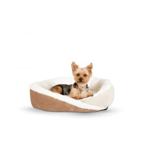 Huggy Nest Pet Bed (Color: Tan / Caramel, Size: small)
