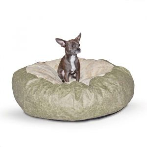 Self Warming Cuddle Ball Pet Bed (Color: Green, Size: medium)