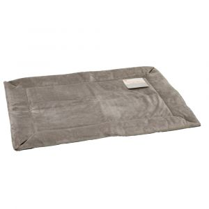 Self-Warming Crate Pad (Color: Gray, Size: small)