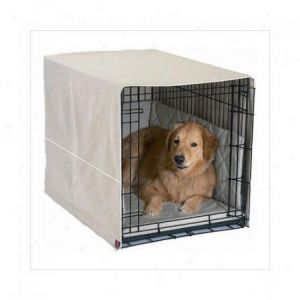 Classic Cratewear Dog Crate Cover (Color: Khaki, Size: medium)