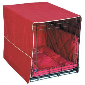 Classic Cratewear Dog Crate Cover (Color: Burgundy, Size: small)